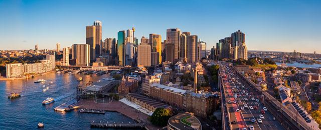Storbyen Sydney i Australien