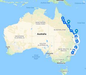 Ostkystens Strande Koralrev Og Nationalparker Australiatours Dk