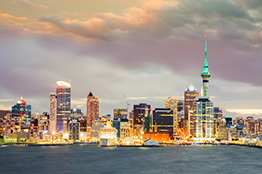 Auckland skyline i New Zealand