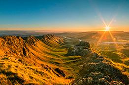 Napier, Te Mata Peak solopgang