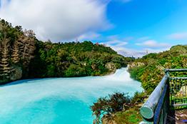 The Huka Falls i Waikako River, Taupo