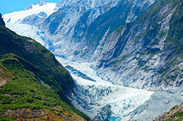 Franz Joseph glacier i New Zealand