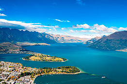 Lake Wakatipu i Queenstown, New Zealand