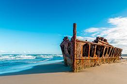 Maheno skibsvrag på Fraser Island