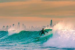 Surfers paradise på Gold Coast i Australien