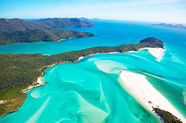 Udsigt over Whitsunday Islands