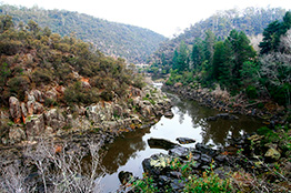 Cataract Gorge i Tasmanien