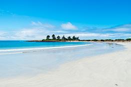 Hvid sandstrand på Griffith Island udfor Victoria